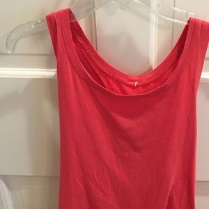 Coral lulu razor back cotton tank